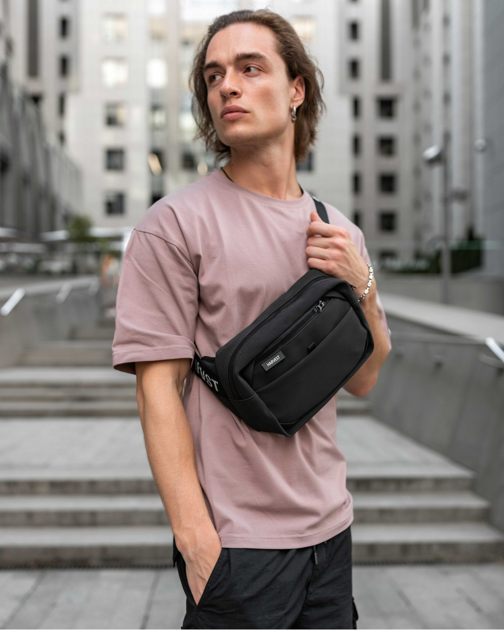 """""""HIP PACK LARGE"""" матова, чорна"""