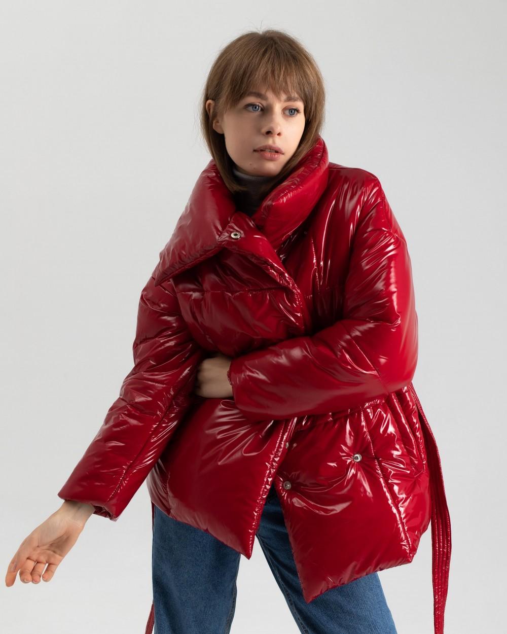 """Куртка """"Biscuit"""" червоний лак"""