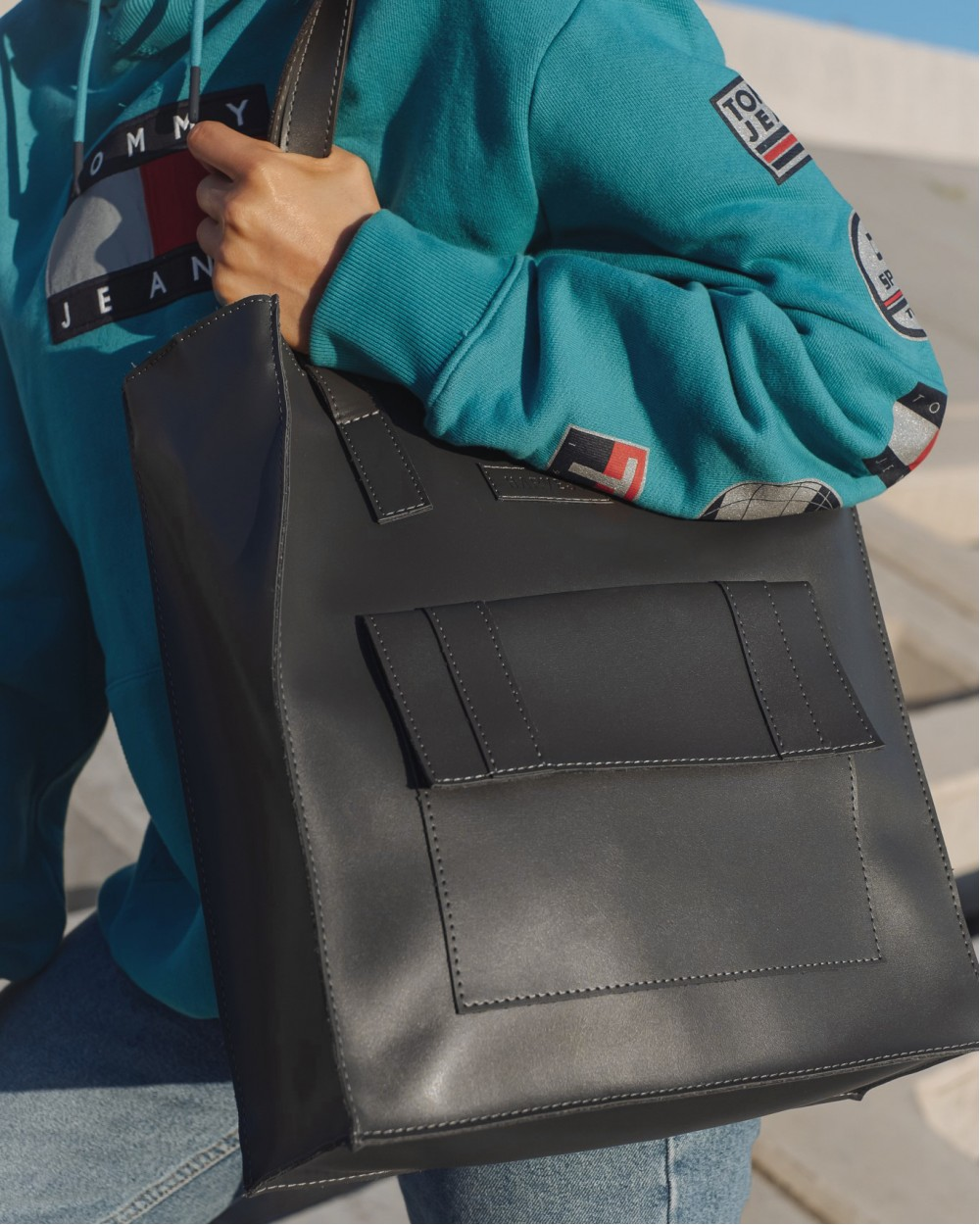 """office bag large"" сіра"